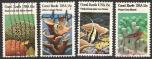 SC#1827-30 15¢ Coral Reefs Singles (1980) Used
