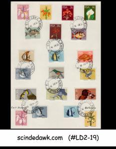 SOUTH AFRICA - 1974 WILDLIFE/FISH BIRDS FLOWERS - DEFINITIVES -20V -FOLDER - FDI