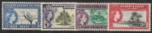 Gilbert & Ellice Islands - 1956 - SC 61-63,65 - VLH - 63 sm corner crease
