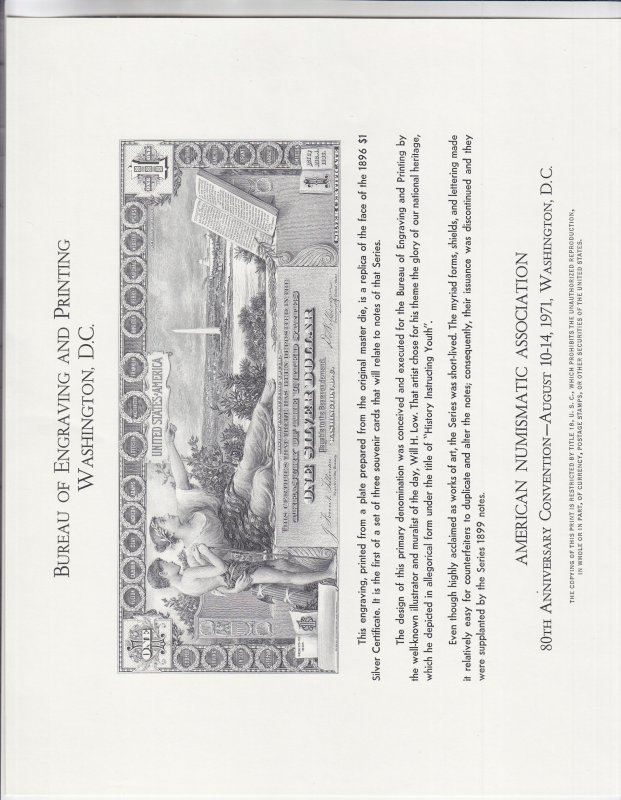B. E. P. Card, Sc #B12, Cat. $12.75 (S18852)