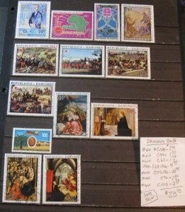 Dahomey Air Mail Selection- SCV=$23.50