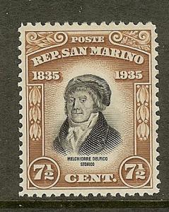 San Marino, Scott #170, 7 1/2c Delfico, MH