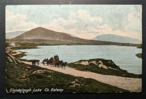 1908 Glendalough Lake Co Galway to Dublin Ireland Real Picture Postcard Cover
