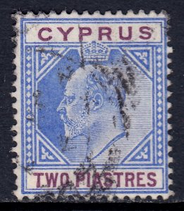 Cyprus - Scott #53 - Used - Light vertical crease, pencil on reverse - SCV $2.00