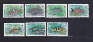 Kiribati 540-546 MNH Fish