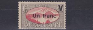 FRENCH COLONIES GUADELOUPE   1943 - 44  1F ON 65    MH