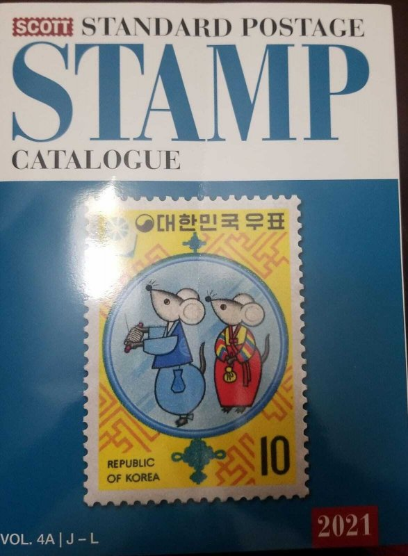 O) 2021 CATALOGUE, SCOTT STANDARD POSTAGE, FULL COLOR, VOLUME 4A, FROM J TO L, U