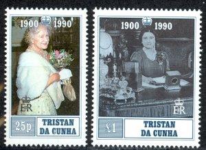 Tristan Da Cunha Sc# 480-481 MNH 1990 Queen Mother 90th Birthday