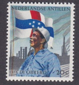 Netherlands Antilles # 272, Worker, Flag & Factory, Hinged, 1/3 Cat.