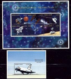 Sierra Leone 1904-05 MNH 1995 Space Exploration    (ap2603)