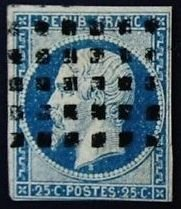 France Yvert 14b Used (1860) Good Margins Very Fine