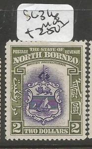 North Borneo SG 316 MOG (5cls)