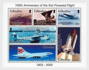 2003  GIBRALTAR  -  SG. MS 1051 -  POWERED FLIGHT  -  MNH