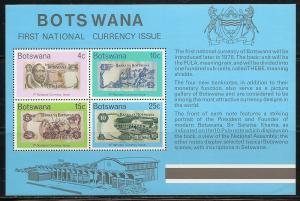 Botswana 154a 1976 Currency set NH
