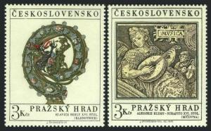 Czechoslovakia 1752-1753,MNH.Michel 2002-2003. Prague Castle 1971.Crosier,Mural.