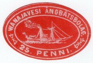 (I.B) Finland Local Post : Wanajavesi Steamship Company 25p