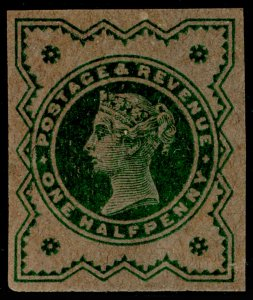 SG213var, 1d green on buff, UNUSED. Cat £220. PLATE PROOF