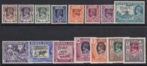 Burma Sc 70-84 (SG 68-82), MLH/HR