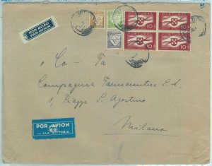84165 - PORTUGAL - Postal History - Yvt  PA # 7*4 on Lati  COVER to ITALY  1940