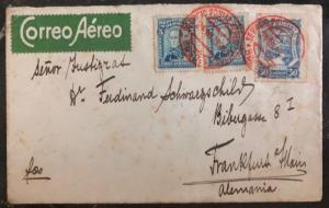 1924 Bogota Colombia Early Airmail Cover To Frankfurt Germany Scadta