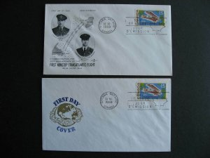 Canada Vickers Vimy Van Dahl, Rosecraft FDC First day covers Sc 494