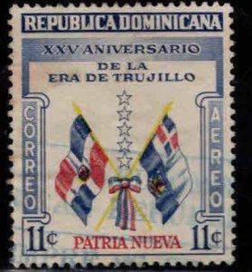 Dominican Republic Scott C91 Used airmail Flag  stamp