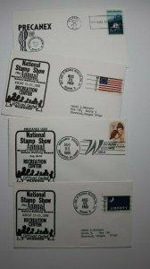 PRECANEX Stamp Show Wildwood NJ Philatelic Expo Cachet Cover Lot 4
