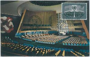 32296 MAXIMUM CARD - Architecture : UNITED NATIONS - UN - ONU  --- 1956