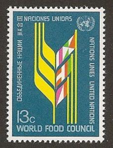 United Nations 280 New York World Food Council 13c single MNH 1976
