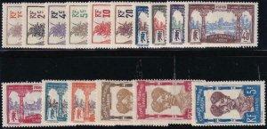 Gabon 1910 33-48 Mint Set
