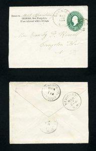 FREE SHIPPING - # U311 from Cornish, NH DPO to Croydon Flat, NH DPO - 3-20-1894