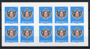 Monaco 2017 MNH Coat of Arms Emblems Permanent Value 10v S/A Booklet Stamps