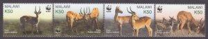 2003 Malawi 721-724strip WWF / Fauna