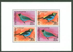 Suriname # C60a Birds, souvenir sheet (1) Mint NH