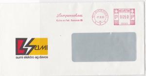 Switzerland Commercial 1990 machine cancel stamp cover ref 21581