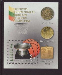 Lithuania 2003 MNH - Lithuania European Men`s Basketball Champion - m/sheet