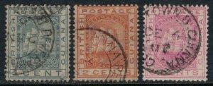 British Guiana #107-8,11  CV $1.75