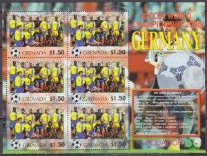 2006 Grenada 5709KL 2006 FIFA World Cup Germany( Ecuador ) 9,00 €