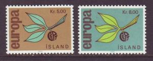 Iceland Sc 375-6 1965 Europa  stamps mint NH
