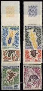 French Southern Antarctic Territory FSAT 46-51 Set Insects Set 55553