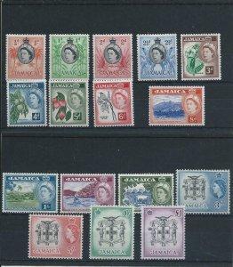 JAMAICA 1956-58 SET OF SIXTEEN MM SG 159/174 CAT £100