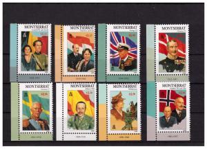 Montserrat 1998 Royality of 20th Century  Scott 946-53 MNH