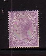 British Honduras Sc 10 1879 4d violet Victoria stamp mint