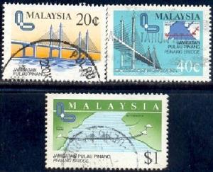 Penang Bridge Opening, Malaysia SC#311-3 used set