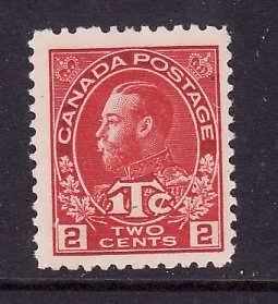 Canada-Sc#MR3-Unused 3c carmine war tax-KGV-og-heavy hinge -1915-Cdn753-