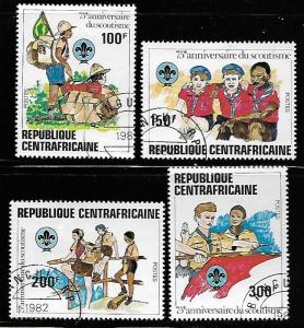 CENTRAL AFRICAN REPUBLIC  497-500  USED, SOUTING YEAR, SET 1982