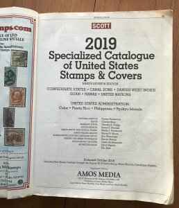 Used Scott 2019 Specialized Catalogue of US Stamps & Covers See Photos