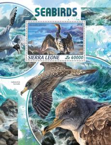 Z08 IMPERF SRL18411b Sierra Leone 2018 Seabirds MNH ** Postfrisch
