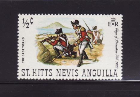 St Kitts-Nevis 245 MNH Military, Soldiers, East Yorks (B)