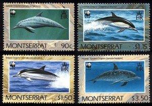 Montserrat WWF Dolphins 4v 1990 MNH SC#753-756 SG#833-836 MI#786-789